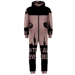 I Juan To Believe Ugly Holiday Christmas Black Background Hooded Jumpsuit (men)