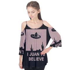 I Juan To Believe Ugly Holiday Christmas Black Background Flutter Tees