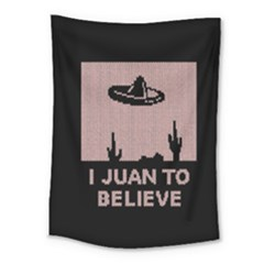 I Juan To Believe Ugly Holiday Christmas Black Background Medium Tapestry