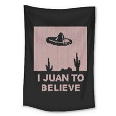 I Juan To Believe Ugly Holiday Christmas Black Background Large Tapestry