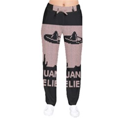 I Juan To Believe Ugly Holiday Christmas Black Background Drawstring Pants