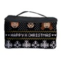 Merry Nerdmas! Ugly Christma Black Background Cosmetic Storage Case View1
