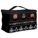 Merry Nerdmas! Ugly Christma Black Background Cosmetic Storage Case View2