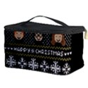 Merry Nerdmas! Ugly Christma Black Background Cosmetic Storage Case View3