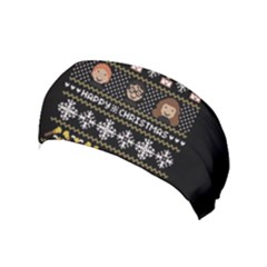 Merry Nerdmas! Ugly Christma Black Background Yoga Headband