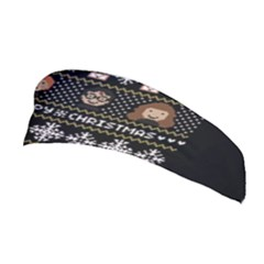 Merry Nerdmas! Ugly Christma Black Background Stretchable Headband