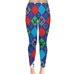 Minecraft Ugly Holiday Christmas Leggings