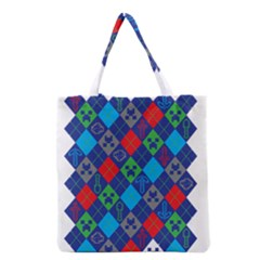 Minecraft Ugly Holiday Christmas Grocery Tote Bag