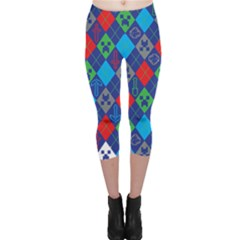 Minecraft Ugly Holiday Christmas Capri Leggings