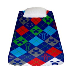 Minecraft Ugly Holiday Christmas Fitted Sheet (Single Size)