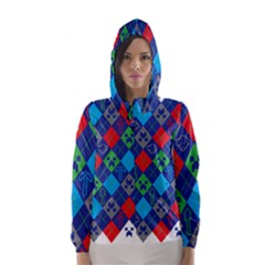 Minecraft Ugly Holiday Christmas Hooded Wind Breaker (Women)