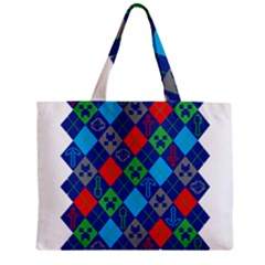 Minecraft Ugly Holiday Christmas Zipper Mini Tote Bag