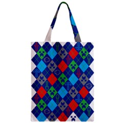 Minecraft Ugly Holiday Christmas Zipper Classic Tote Bag