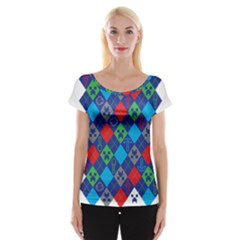 Minecraft Ugly Holiday Christmas Women s Cap Sleeve Top