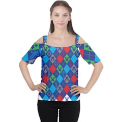 Minecraft Ugly Holiday Christmas Women s Cutout Shoulder Tee