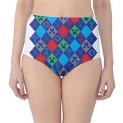 Minecraft Ugly Holiday Christmas High-Waist Bikini Bottoms