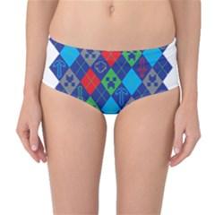 Minecraft Ugly Holiday Christmas Mid-Waist Bikini Bottoms