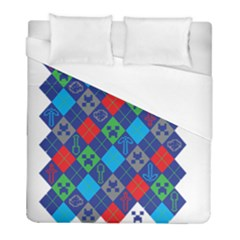 Minecraft Ugly Holiday Christmas Duvet Cover (Full/ Double Size)