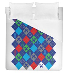 Minecraft Ugly Holiday Christmas Duvet Cover (Queen Size)