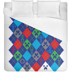 Minecraft Ugly Holiday Christmas Duvet Cover (King Size)