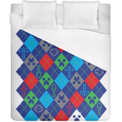 Minecraft Ugly Holiday Christmas Duvet Cover (California King Size)