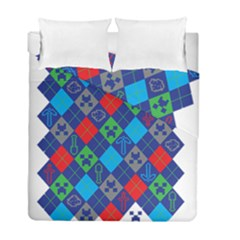 Minecraft Ugly Holiday Christmas Duvet Cover Double Side (Full/ Double Size)