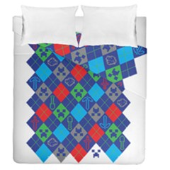 Minecraft Ugly Holiday Christmas Duvet Cover Double Side (Queen Size)