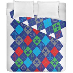 Minecraft Ugly Holiday Christmas Duvet Cover Double Side (California King Size)
