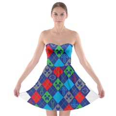 Minecraft Ugly Holiday Christmas Strapless Bra Top Dress