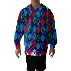 Minecraft Ugly Holiday Christmas Hooded Wind Breaker (Kids)
