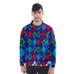 Minecraft Ugly Holiday Christmas Wind Breaker (Men)