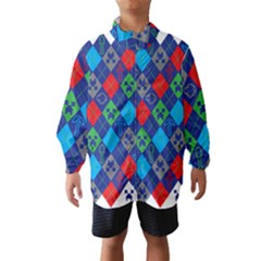 Minecraft Ugly Holiday Christmas Wind Breaker (Kids)