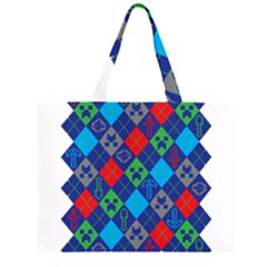 Minecraft Ugly Holiday Christmas Large Tote Bag