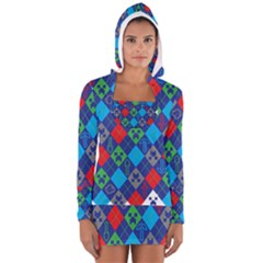 Minecraft Ugly Holiday Christmas Women s Long Sleeve Hooded T-shirt