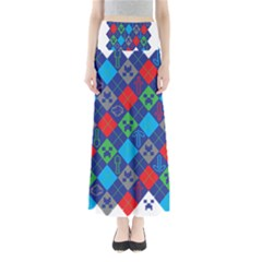 Minecraft Ugly Holiday Christmas Maxi Skirts