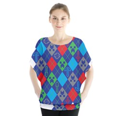 Minecraft Ugly Holiday Christmas Blouse