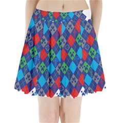 Minecraft Ugly Holiday Christmas Pleated Mini Skirt