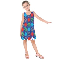 Minecraft Ugly Holiday Christmas Kids  Sleeveless Dress