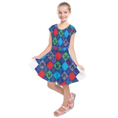 Minecraft Ugly Holiday Christmas Kids  Short Sleeve Dress