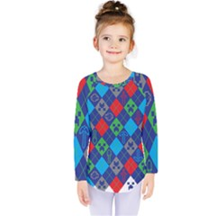 Minecraft Ugly Holiday Christmas Kids  Long Sleeve Tee