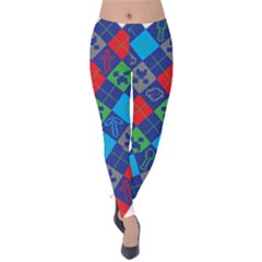 Minecraft Ugly Holiday Christmas Velvet Leggings