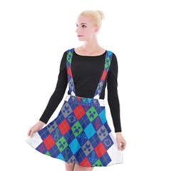 Minecraft Ugly Holiday Christmas Suspender Skater Skirt