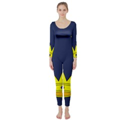 Flag of Irish Province of Munster Long Sleeve Catsuit