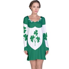 Ireland National Rugby Union Flag Long Sleeve Nightdress