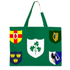 Ireland National Rugby Union Flag Zipper Large Tote Bag