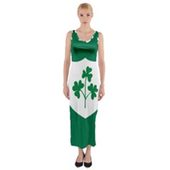 Ireland National Rugby Union Flag Fitted Maxi Dress