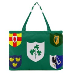 Ireland National Rugby Union Flag Medium Zipper Tote Bag