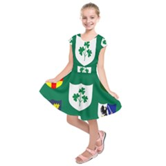 Ireland National Rugby Union Flag Kids  Short Sleeve Dress