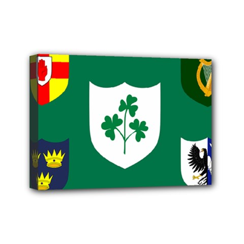 Ireland National Rugby Union Flag Mini Canvas 7  x 5
