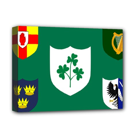 Ireland National Rugby Union Flag Deluxe Canvas 16  x 12